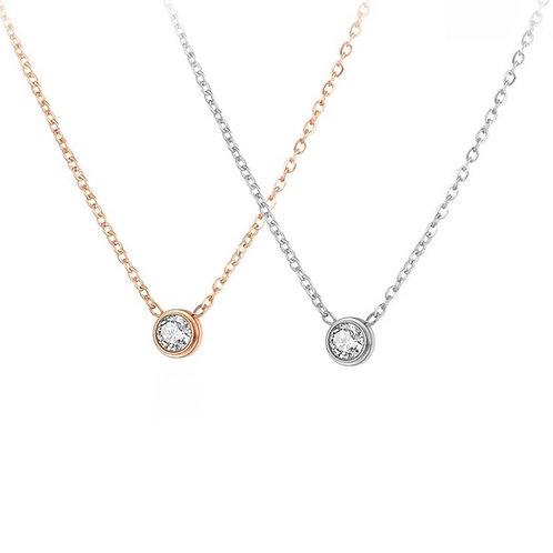 Stella round crystal necklace