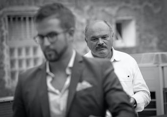 Matteo Basei con Oscar Farinetti