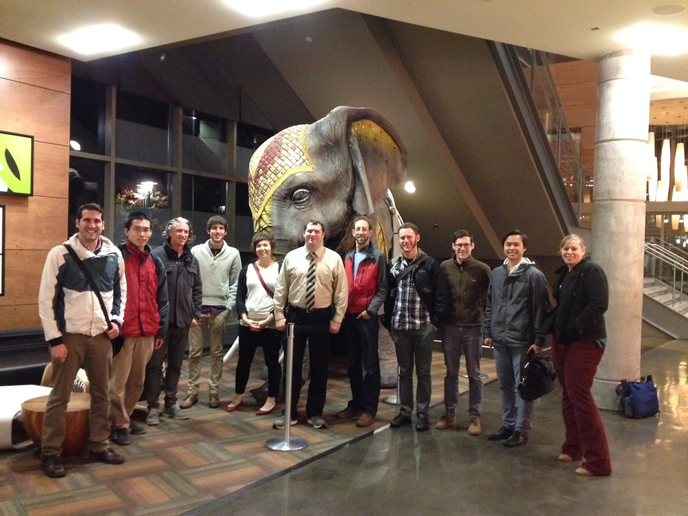 """Playful public art activates space inside the """"Mixer"""" at the Redmond campus."""