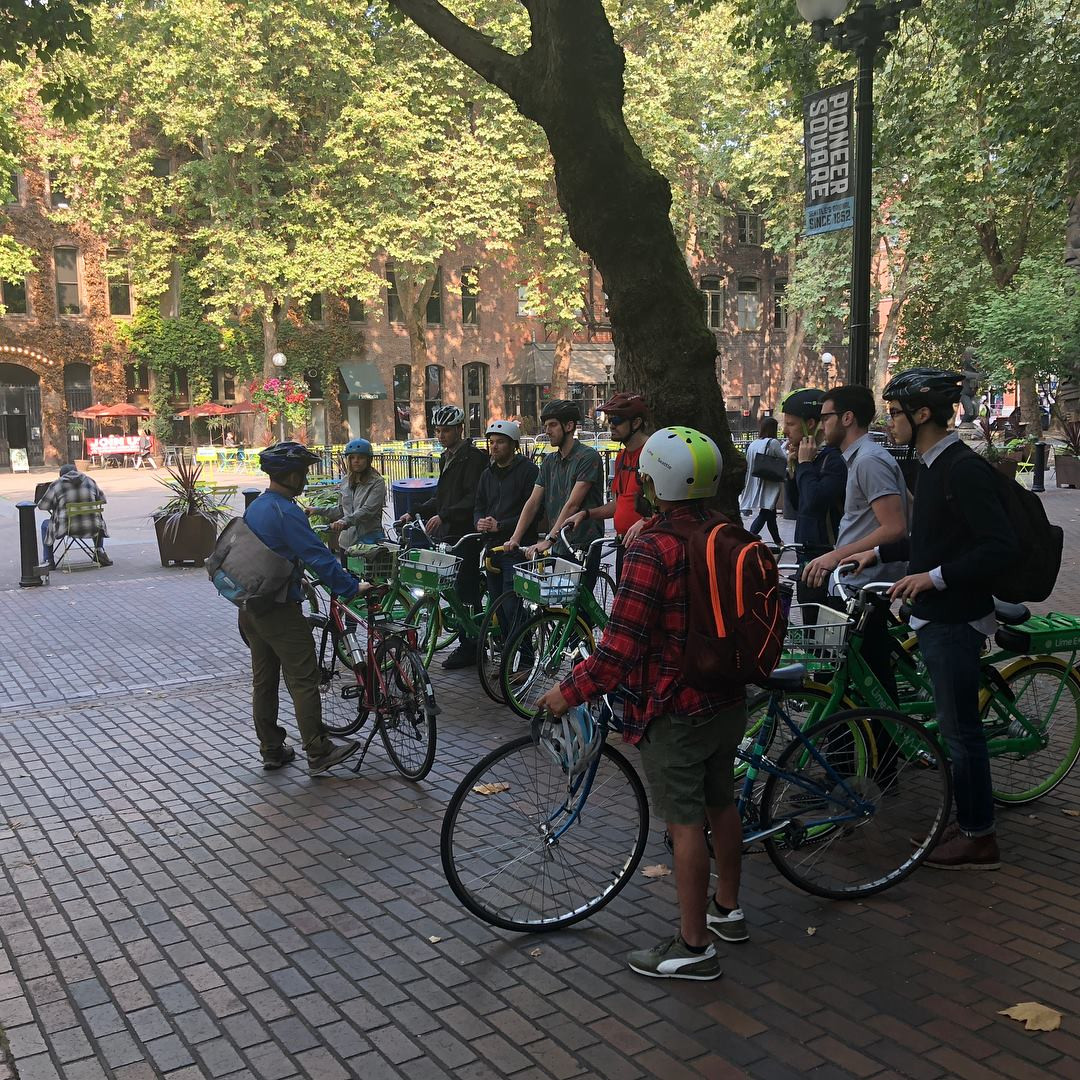 Dongho Chang - Seattle City Traffic Engineer, gave us a bike tour of Seattle's newest dedicated bike lanes.