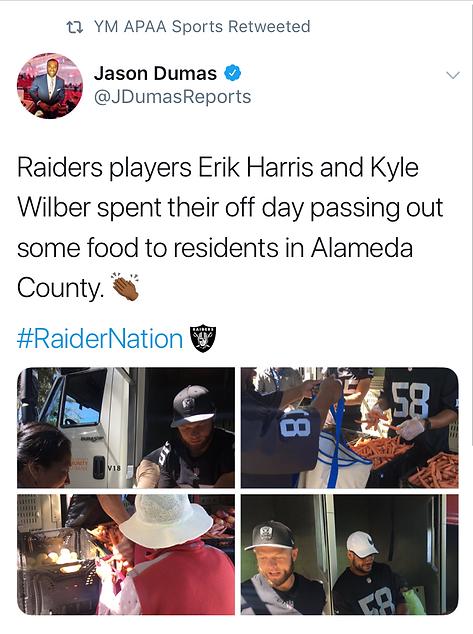 Erik Harris Community Service