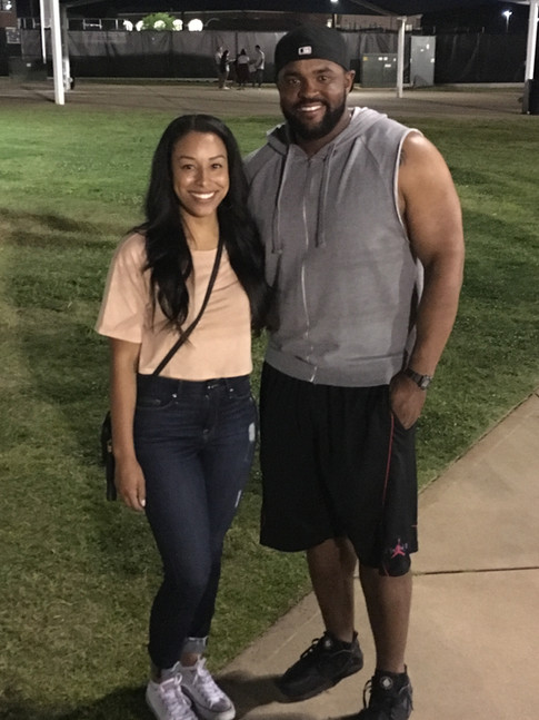 Agent Nicole Lynn with Coach McFarland