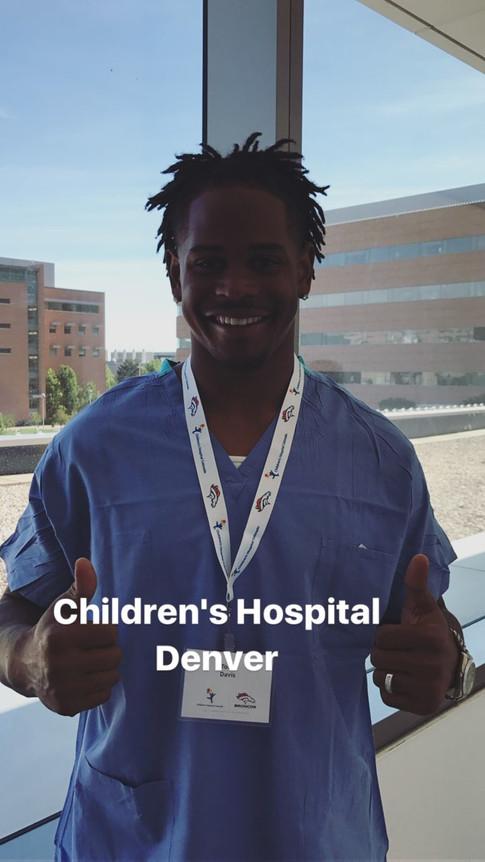 Todd Davis visits Children's Hospital in Denver, CO