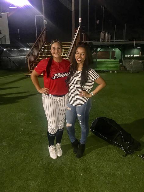 Agent Nicole Lynn with Lauren Chamberlain