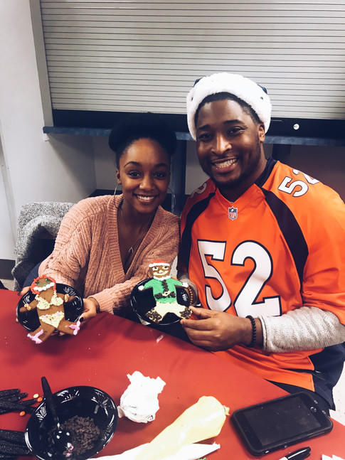 Corey Nelson and his wife, Jordan Nelson