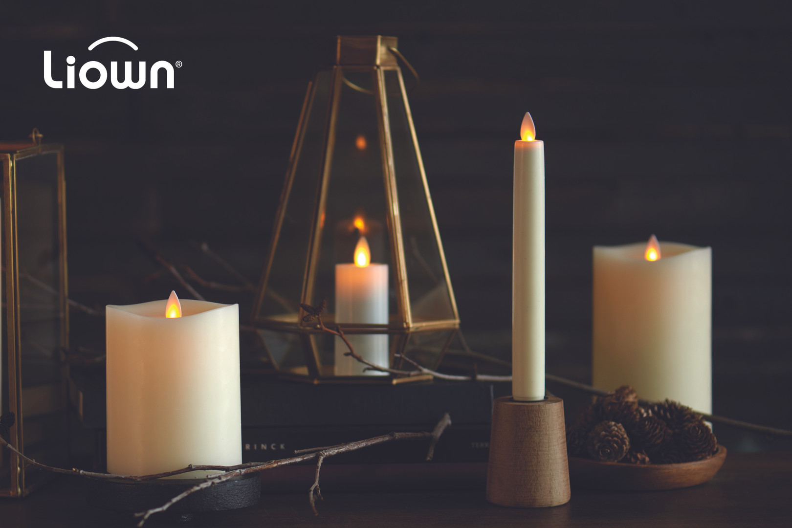 Liown Moving Flame Candles