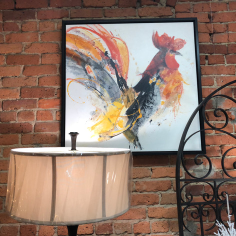 Paragon Rooster on Canvas