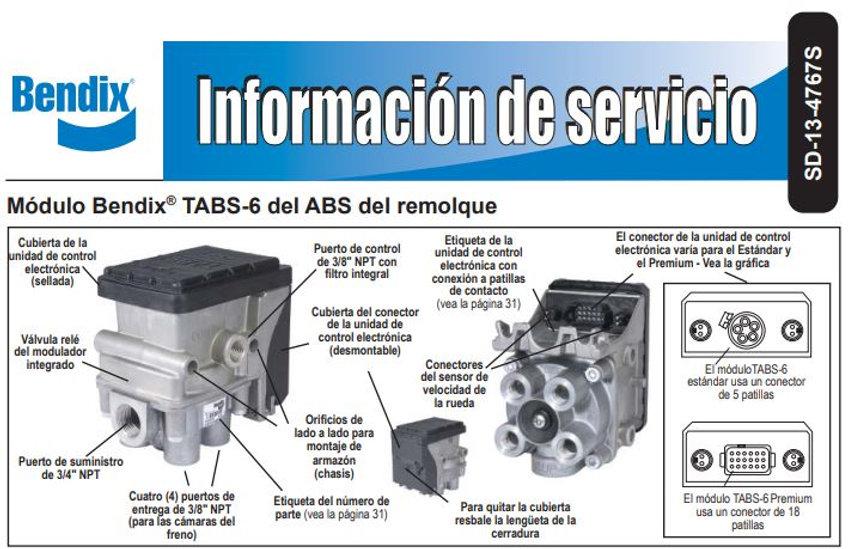Informacion de servicio Bendix