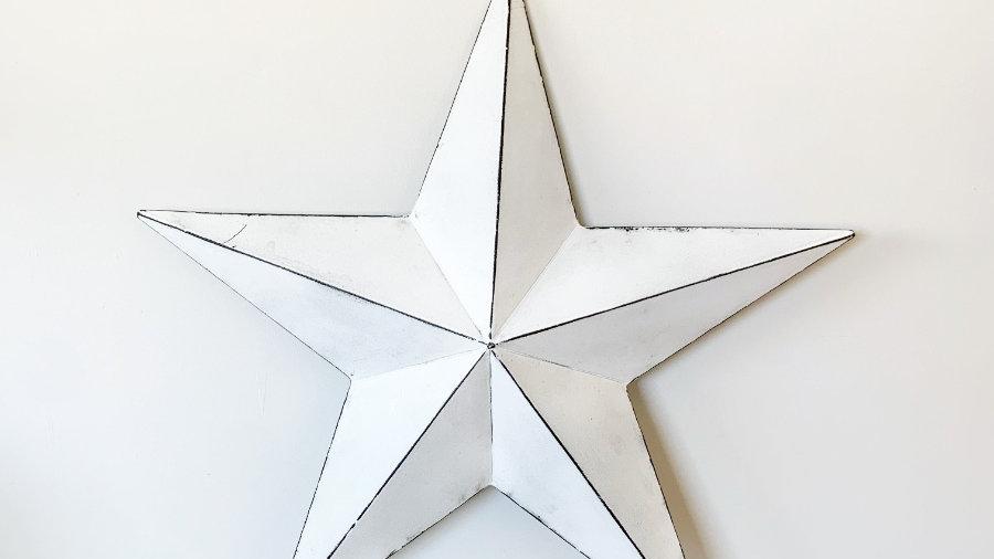 Vintage White Barn Star 32cm