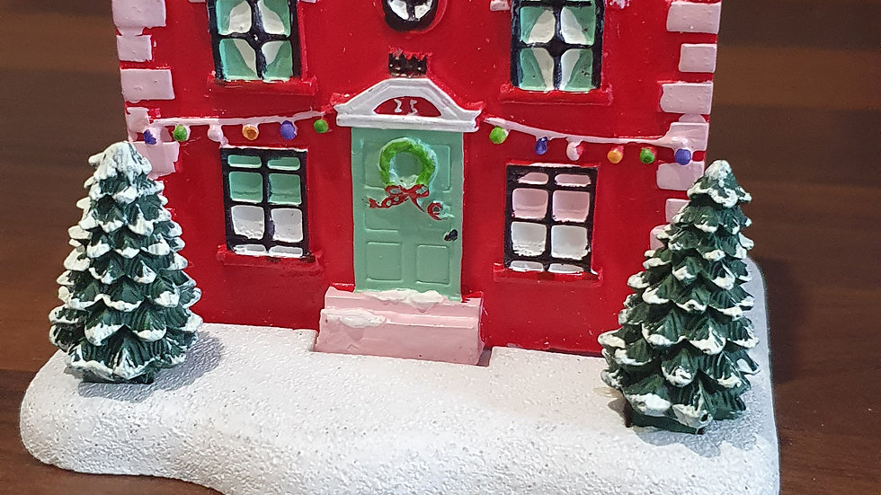 Christmas House Incense Burner