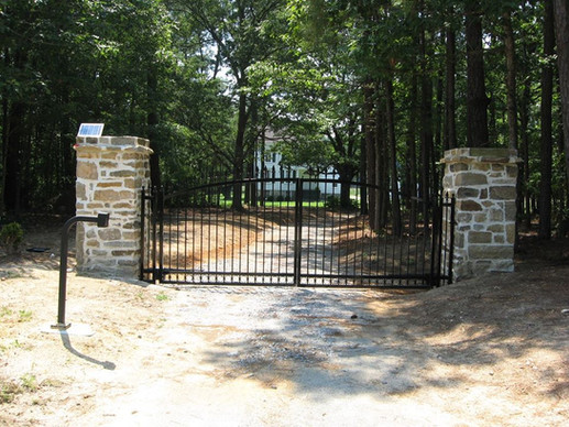 Lake Gaston Driveway gate.