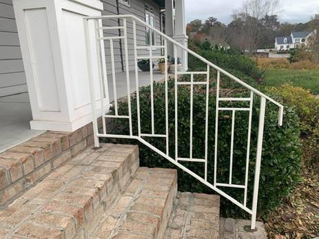Prairie Design handrail to match a Prairie type home.