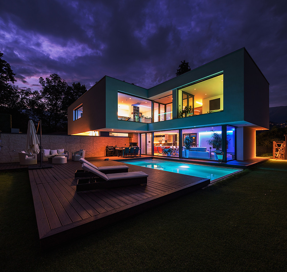 Smart Lighting in a house controlled by Wozart LED Controller