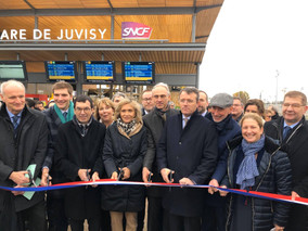 Inauguration de la gare de Juvisy-sur-Orge