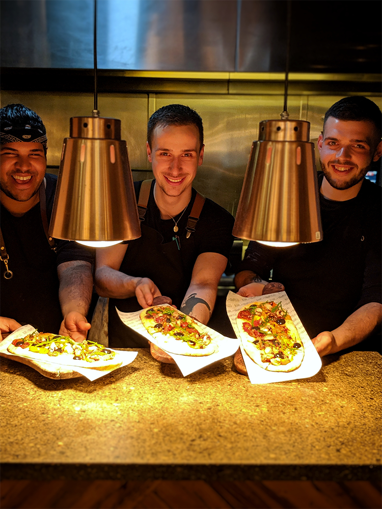 Chefs with flatbread Nottingham