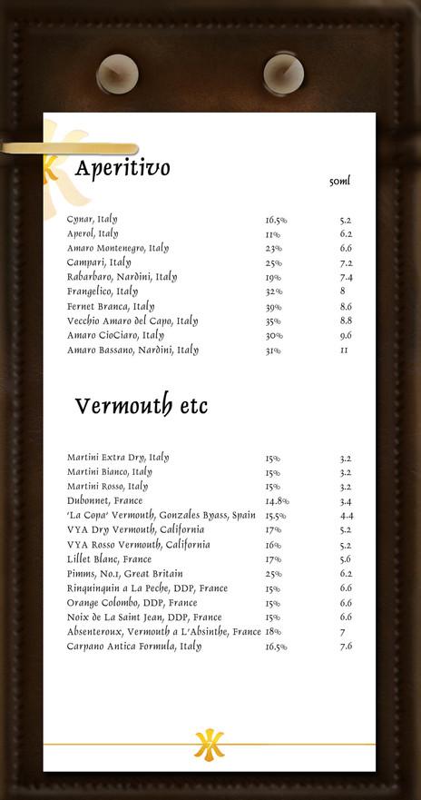 Aperitivo & Vermouth