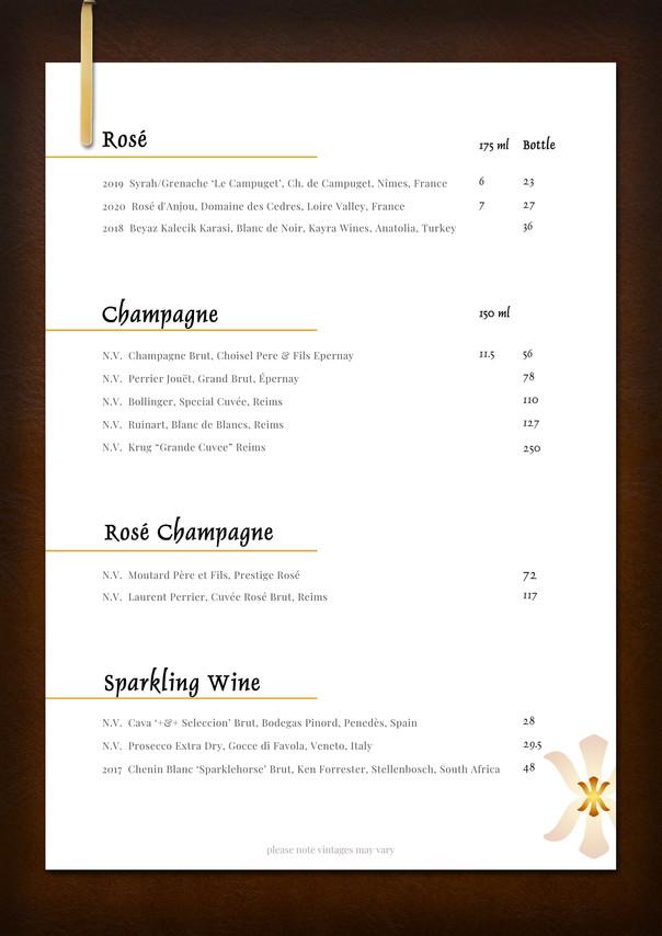 Rose, Champagne & Sparkling Wine