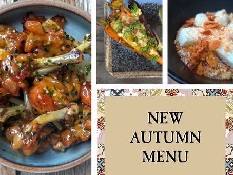 Our Autumn Menu launching Wednesday September 4th