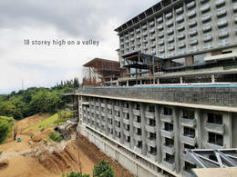 18 storeys high on a valley