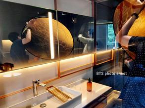 BTS photo shoot