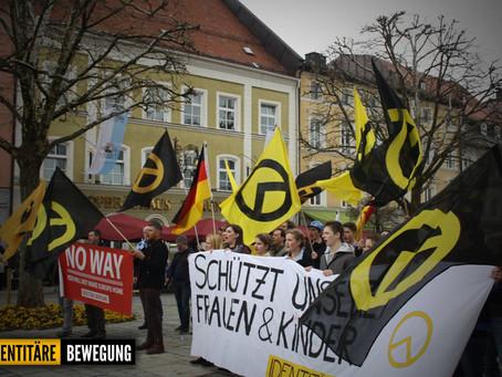Kundgebung der Identitären Bewegung Bayern in Traunstein