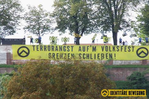 Terrorangst auf'm Volksfest - Grenze