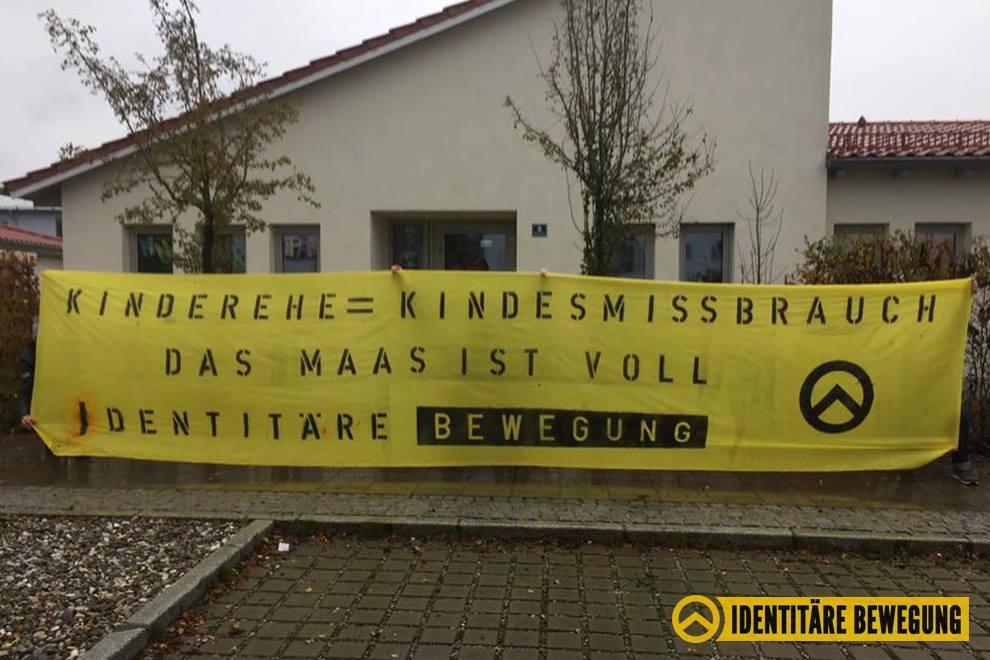 Identitäre Bayern aktiv gegen Kinderehen