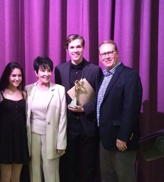 With Chita Rivera and the winners of The Roger Rees Awards that year.