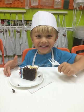 Caden at a Birthday party