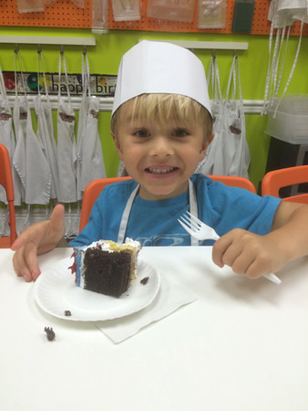 Caden at a Birthday party