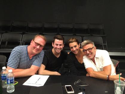 With Wayne Cilento, Keisha Llama and Theo Lencicki working on The Jimmy Awards Presentation