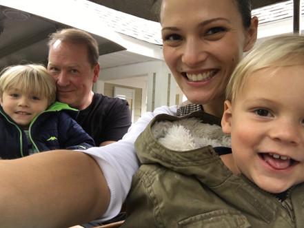 Family Choo-choo train ride at Turtlebac