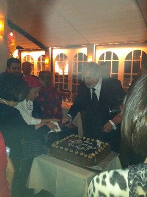 At Placido Domingo's 71st Birthday Party