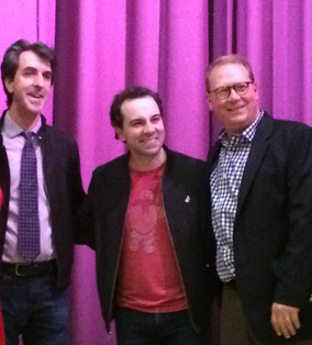 JRB and Rob McClure and me at the Roger Rees awards. I MD'ed.