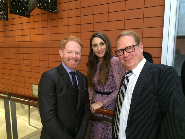 Oy ya know just hangin' as one does with Sara Bareilles and Jesse Tyler Ferguson backstage before we went on