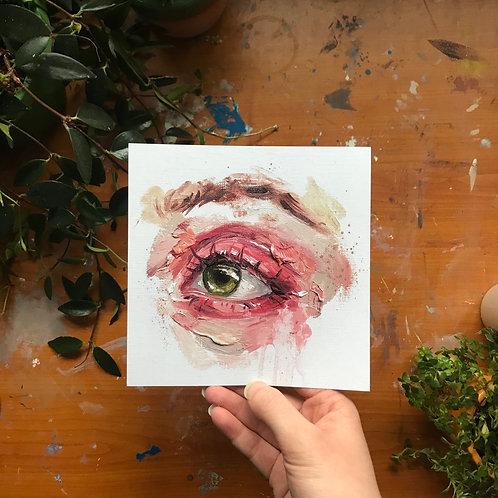 Pastel Eye Print