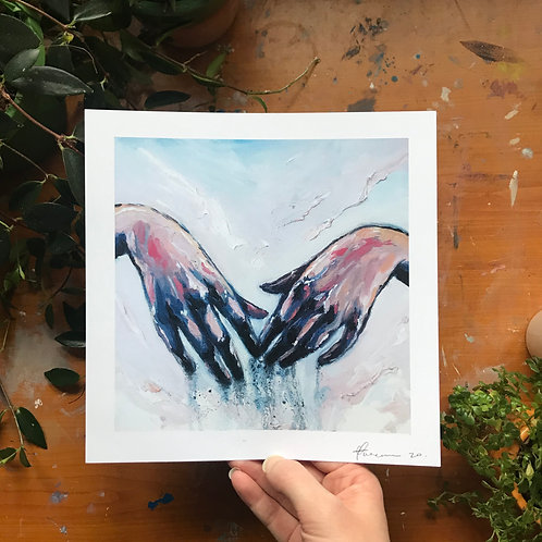 The Touch Art Print