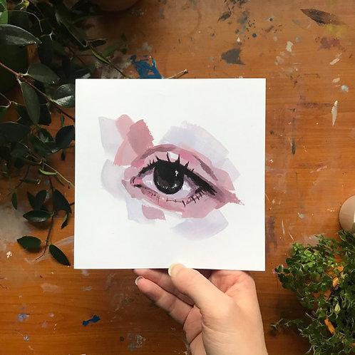 Eye study, Art Print