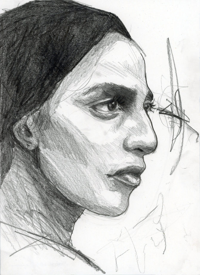 Pencil drawing on paper, 28.5x21cm, 2020, £25