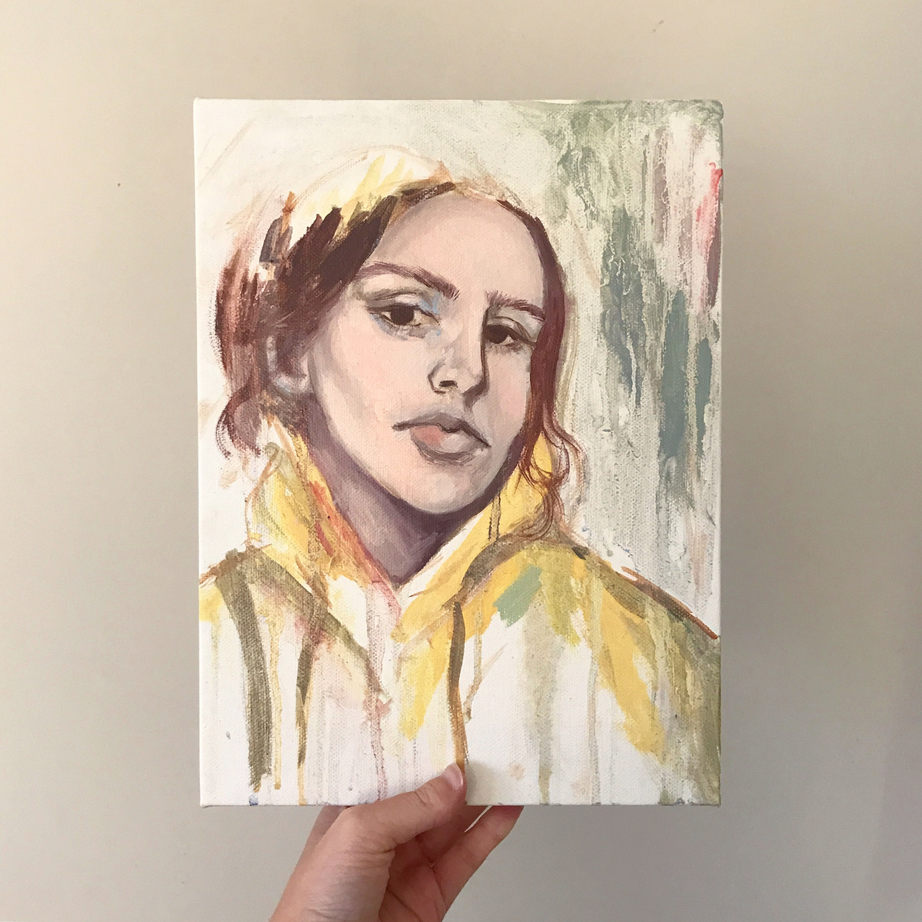 Portrait study, Oil on canvas, not available