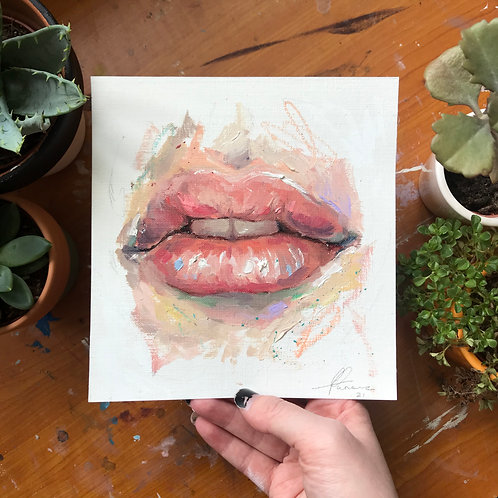 Lips Study, Original Artwork