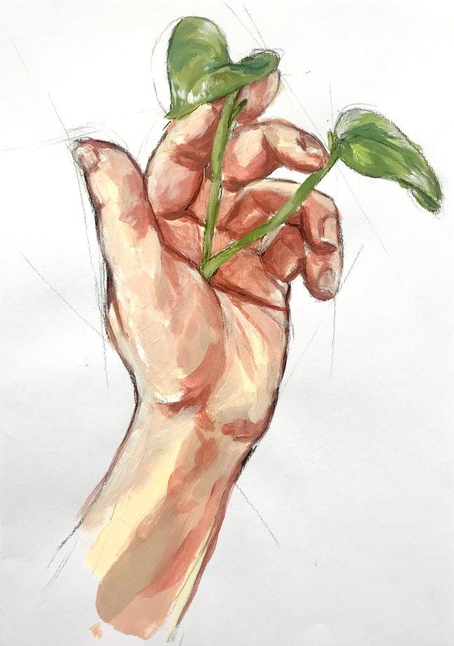 Hand Study, 20.9x29.5cm, 2019, Sold