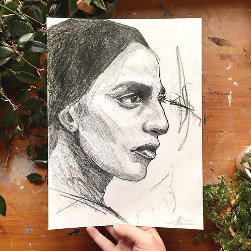 Pencil Portrait, Original Artwork