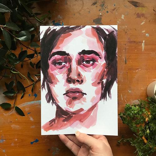 Portrait Study (2), Art Print