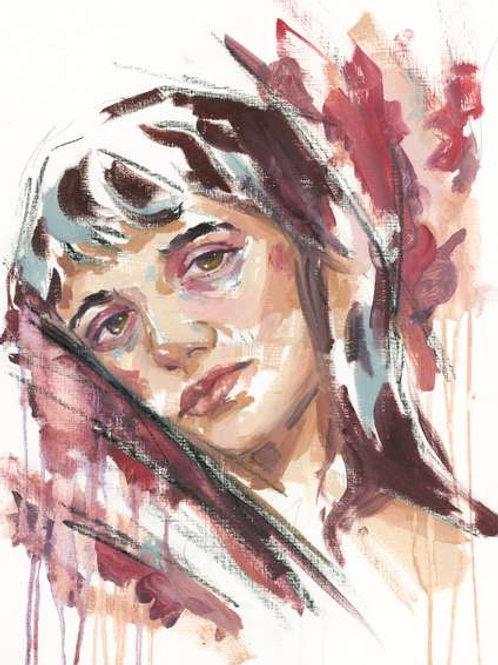 Study of a Girl, Original Artwork