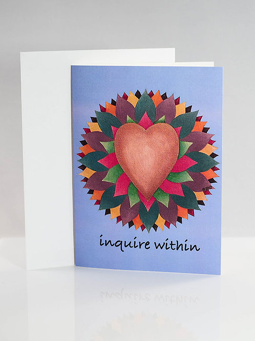 inquire within note card