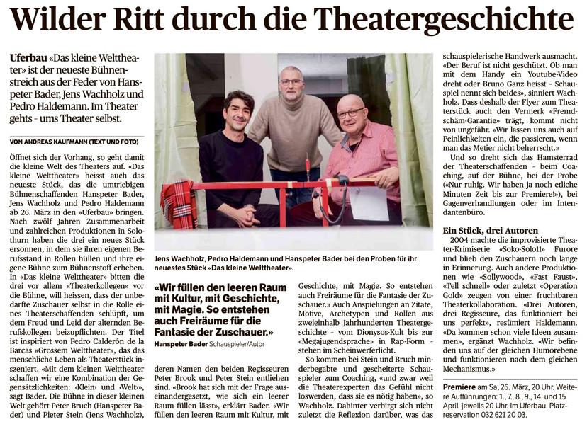 E-Paper-Ausgabe_Solothurner Zeitung_Dien
