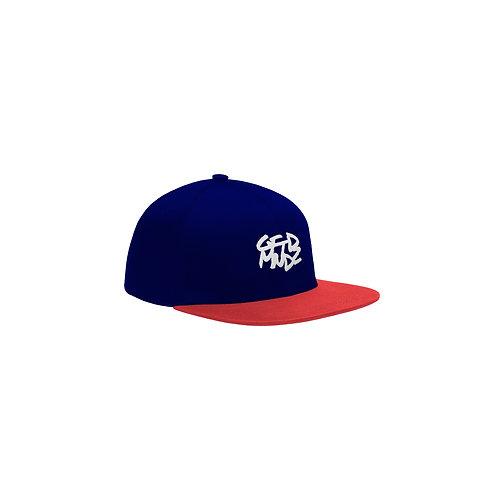 GFTDMNDZ OG SNAPBACK HAT (Navy Blue/Red)