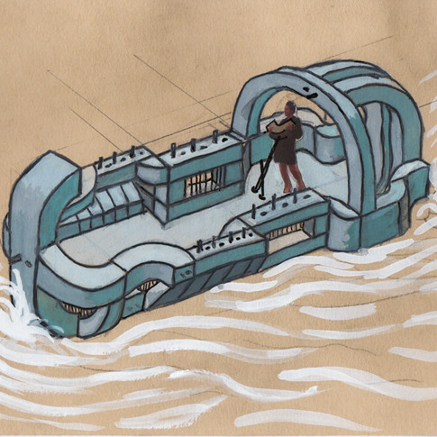 Build a concrete boat out of your sculptures