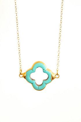 Turquoise quatrefoil Necklace